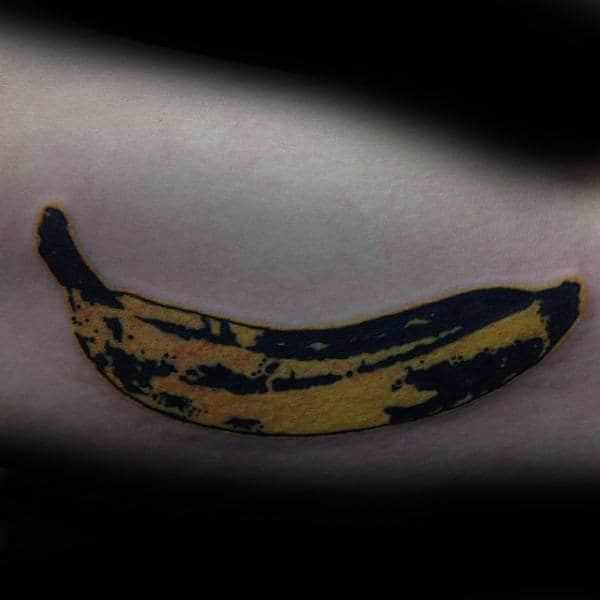 Yellow Banana Male Pop Art Tattoos