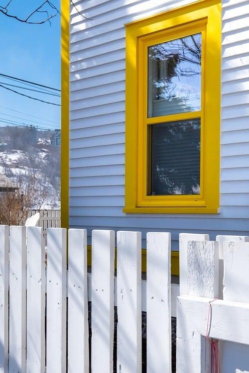 Yellow Craftsman Exterior Window Trim