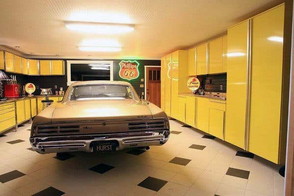 Yellow Garage Cabinet Design Idea Inspiration