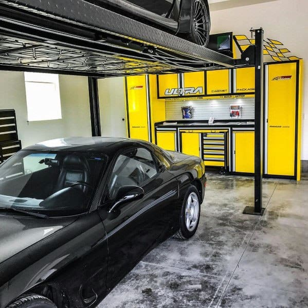 Yellow Garage Cabinet Ideas