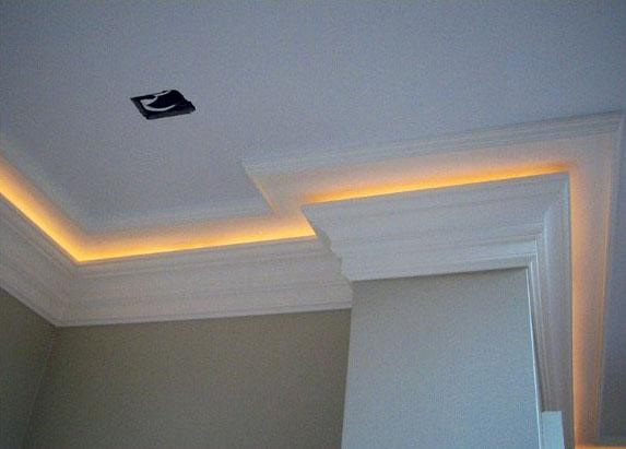 Yellow Led Ceiling Crown Molding Strip Lighting