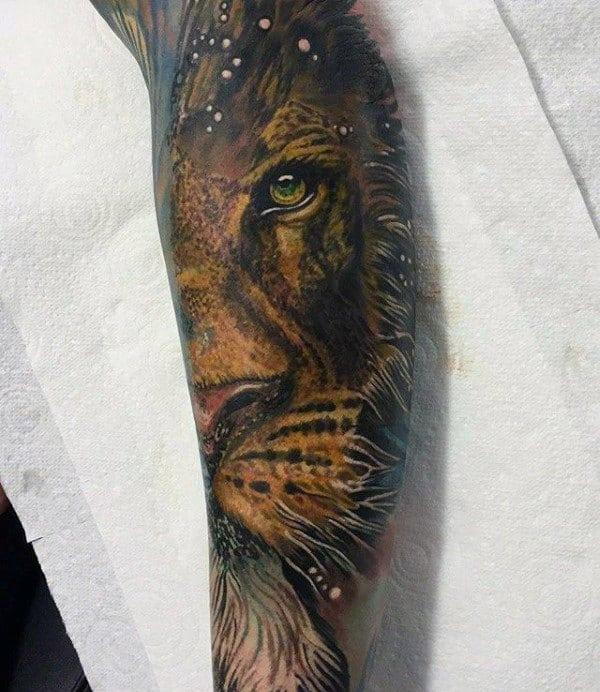 60 Lion Sleeve Tattoo Designs For Men Masculine Ideas