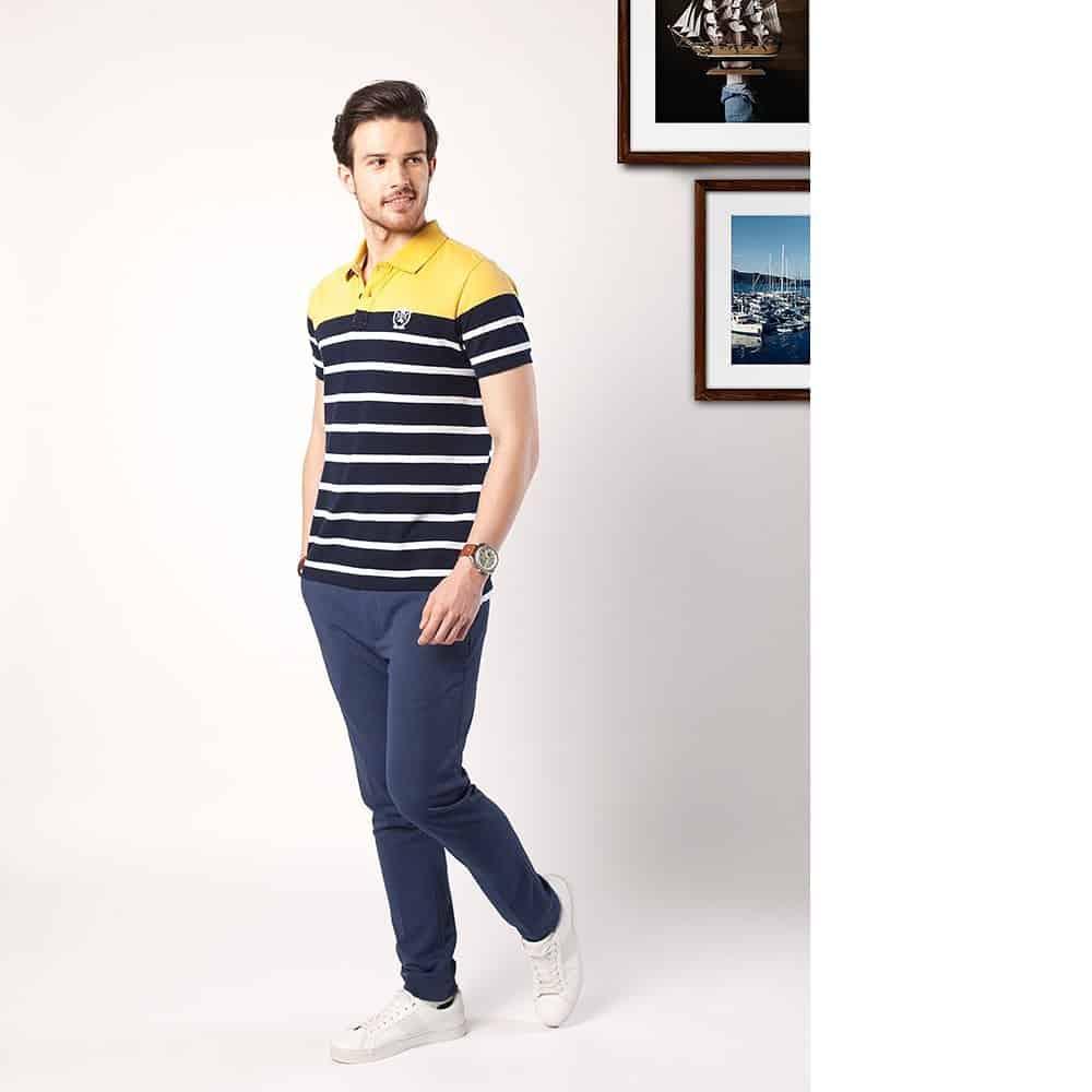 Yellow Stripe Nautical Fashion