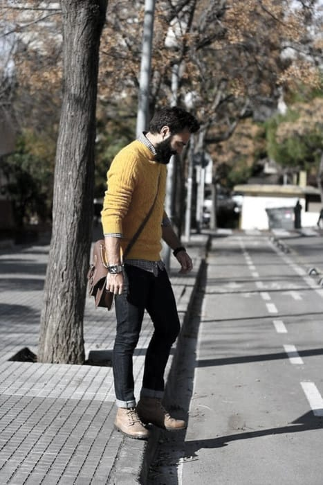 Yellow Sweater Superb Male Business Casual Outfits Style Design Ideas