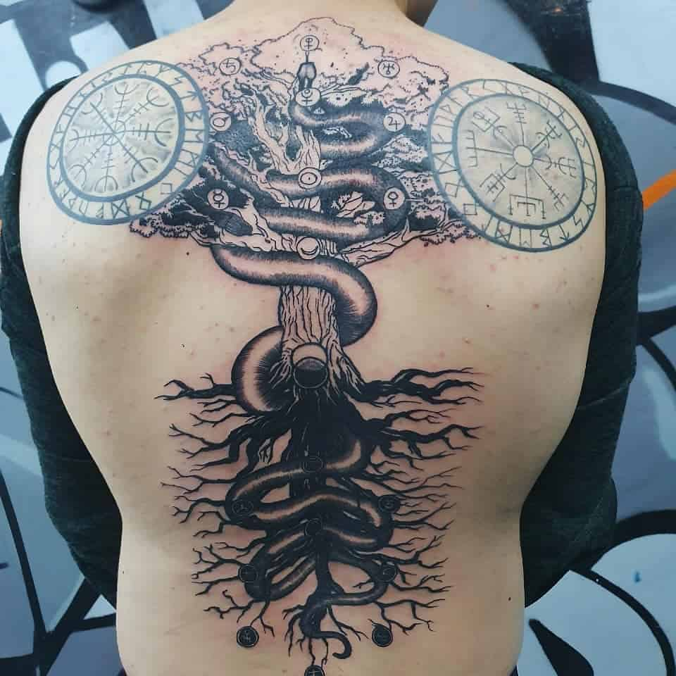 yggdrasil black tattoo art