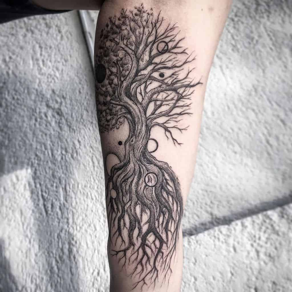 yggdrasil tattoo in arm