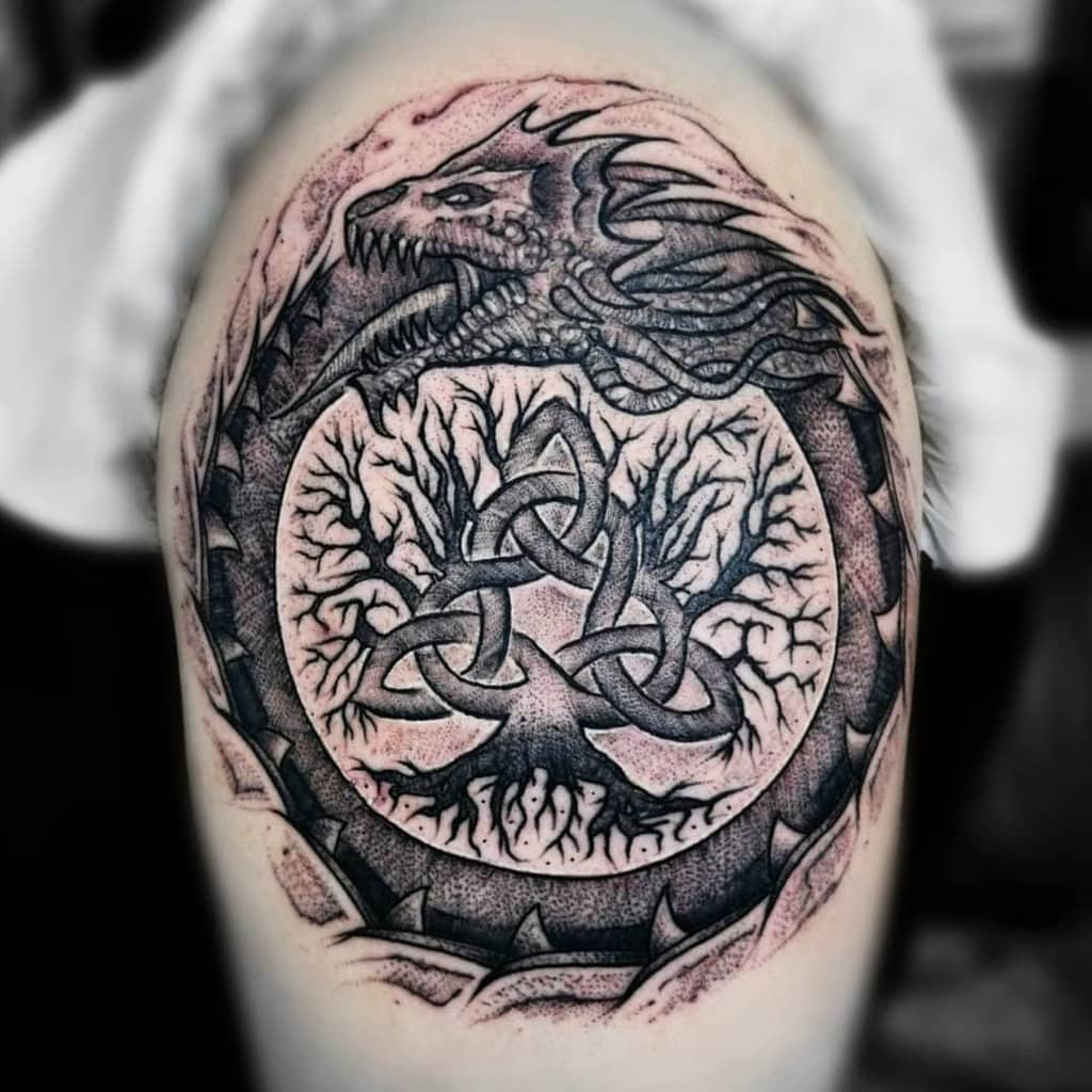 yggdrasil tattoo tree of life, eternal green ash tree