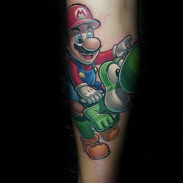 Yoshi Guys Tattoo Designs On Forearm