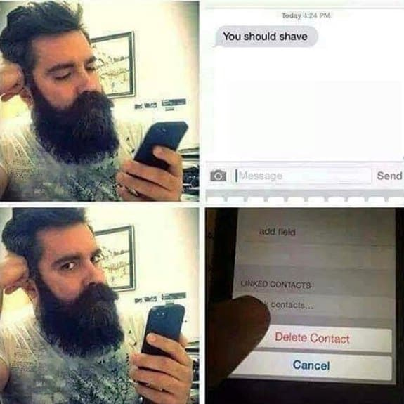 You Should Shave Text Funny Beard Memes