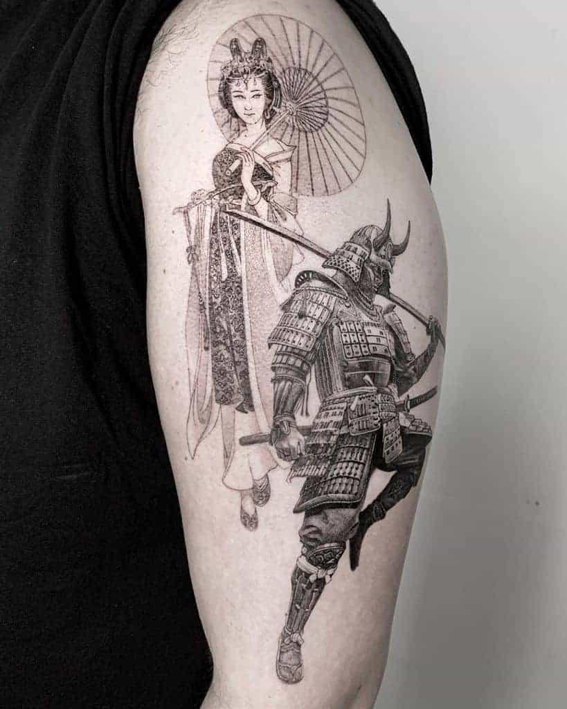 zaragoza-black-worker-geisha-tattoo