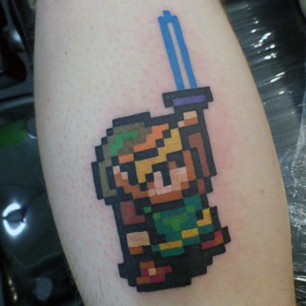 Zelda 8 Bit Mens Arm Tattoo Ideas