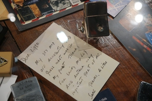 Zippo Customer Letter With Bullet