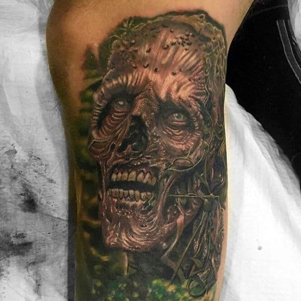 Zombie Epidemic Inspired Male Bicep Tattoos