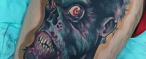 90 Zombie Tattoos For Men – Masculine Walking Dead Designs